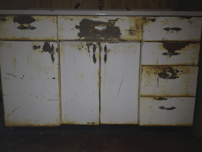 Kitchen cabinets circa 1940 bright container house - New metal kitchen cabinets ...
